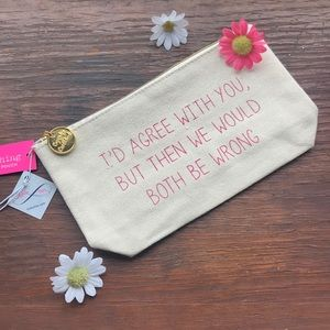 Sassy Canvas Cosmetic Bag